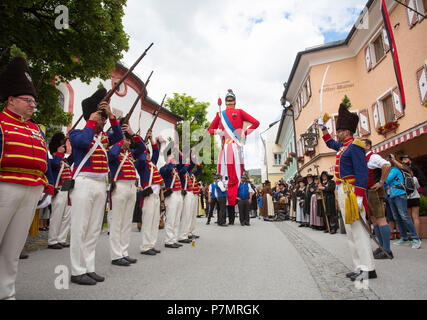 Austria, Salzburg State, Lungau region, Mauterndorf, Samson parade, Samson, giant figure, parade, - Stock Photo