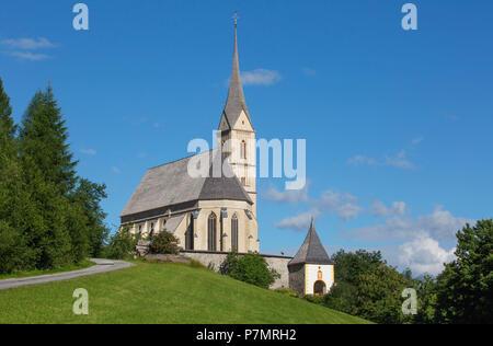 Austria, Salzburg State, Lungau region, Tamsweg, pilgrimage church St. Leonhard, - Stock Photo
