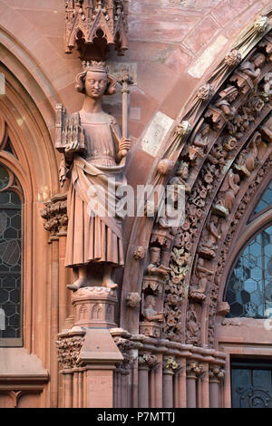 Switzerland, Basel, the Cathedral (Münster), the portal of Saint Gallen - Stock Photo