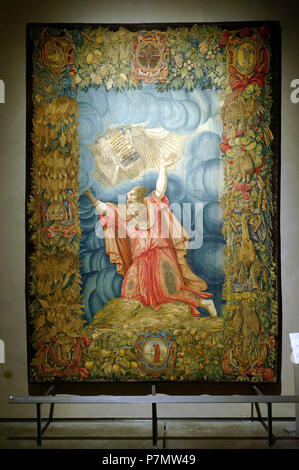 Italy, Lombardy, Milan, Piazza del Duomo, museo del Duomo (Cathedral museum), Moses receviez the t'en commandements tapestry (1554-1556) - Stock Photo