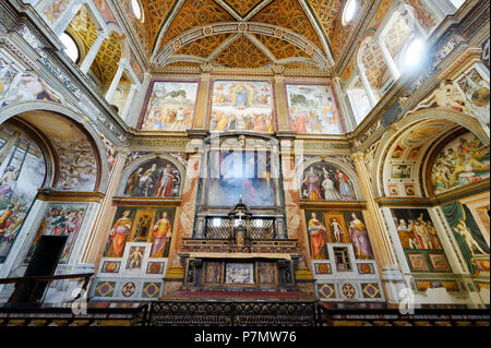 Italy, Lombardy, Milan, Magenta district, Church of San Maurizio - Stock Photo