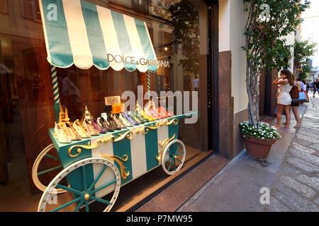 Italy, Lombardy, Milan, Fashion Quadrilateral, Via della Spiga, Dolce and Gabbana Store - Stock Photo