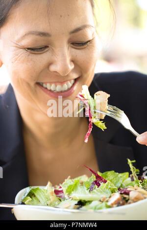 Beautiful mature woman smiling. - Stock Photo