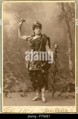 Louise Fahlman som Messalina i Arria och Messalina, Nya teatern 1887 250 Louise Fahlman, rollporträtt - SMV - H3 080 - Stock Photo
