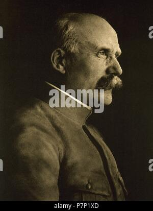 Philippe Petain (1856-1951). French general who reached the distinction of Marshal of France. Chief of State of Vichy France from 1940 to 1944. Portrait. 'La Ilustracion Francesa', 1917. - Stock Photo