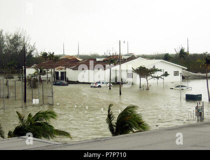 Hurricane Relief-25. The US Navy (USN) Naval Air Station (NAS) Key West, Florida (FL) flooded after being hit by Category 3 Hurricane Wilma. - Stock Photo