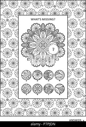 Puzzle and coloring activity page for grown-ups with jobs ...
