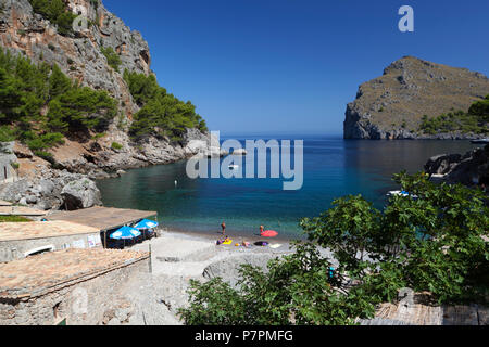 Beach view of Sa Calobra on Mallorca island - Stock Photo