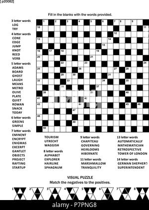 Puzzle page with two puzzles: 19x19 criss-cross (kriss-kross