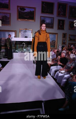 Chris More Catwalking Fashion Through the lens of Chris The Bowes Museum More - Stock Photo