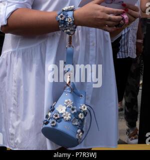 Berlin, Germany. 05th July, 2018. Fashion street in Berlin during Fashion week Credit: Beata Siewicz/Pacific Press/Alamy Live News - Stock Photo