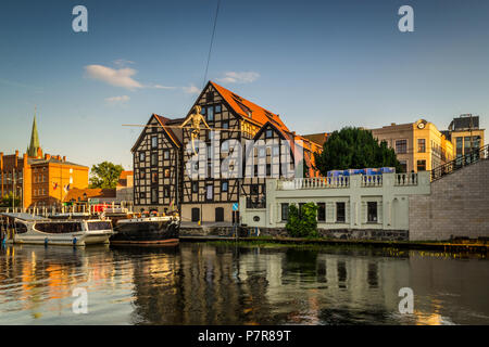 Historic old town in the city of Bydgoszcz, Poland - Stock Photo