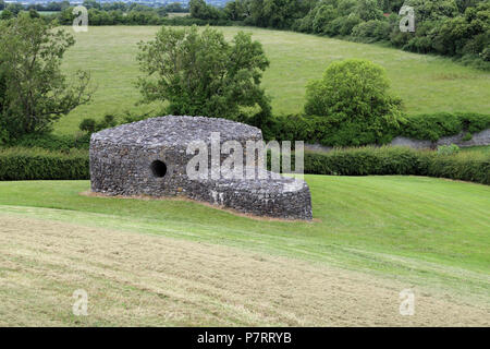 Newgrange  is a prehistoric monument in County Meath, Ireland,  It was built during the Neolithic period, around 3200 BC, making it older than Stonehe - Stock Photo