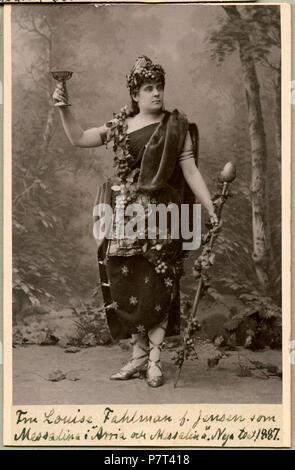 Louise Fahlman som Messalina i Arria och Messalina, Nya teatern 1887 250 Louise Fahlman, rollporträtt - SMV - H3 029 - Stock Photo