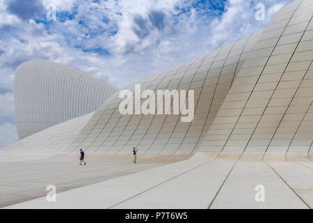 The Heydar Aliyev Center in Baku,Azerbaijan - Stock Photo