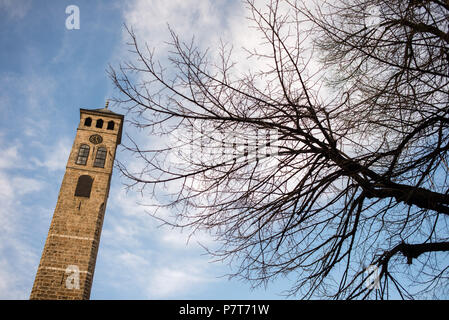 Courtyard of Gazi Husrev-beg Mosque in Sarajevo, Bosnia and Herzegovina - Stock Photo