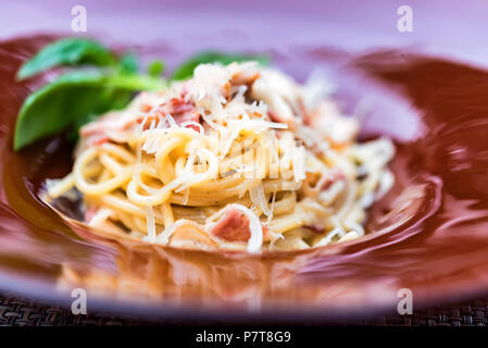 Italian pasta with meat and cheese - Stock Photo