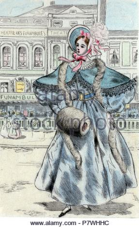 1834, Women's fashion in nineteenth-century Paris, Boutet, Henri (1851-1919), (Artist), 1902. - Stock Photo