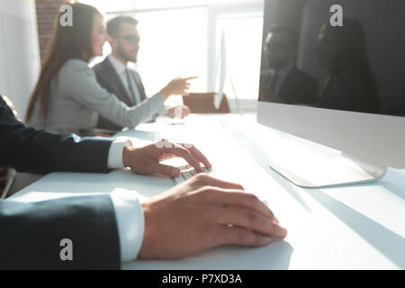 background image of a business meeting . - Stock Photo