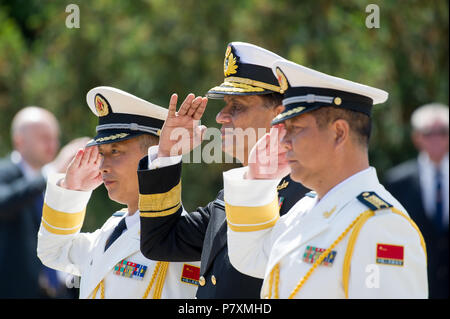 People's Liberation Army Navy during the celebration of 100th anniversary of Polish Navy in Gdynia, Poland. June 24th 2018 © Wojciech Strozyk / Alamy  - Stock Photo