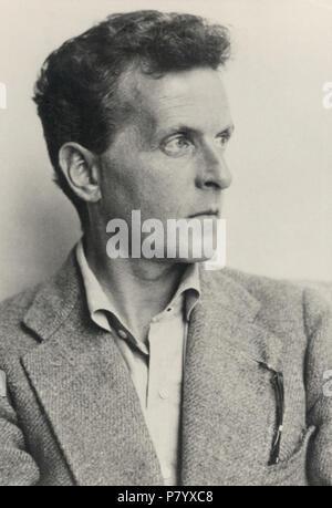 Deutsch: Ludwig Wittgenstein (1899–1951). Österreichische Nationalbibliothek, Inventarnummer Pf 42.805: C (1) English: Ludwig Wittgenstein (1899–1951) . 1930 252 Ludwig Wittgenstein - Stock Photo