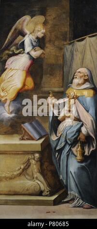 Sacristy of St Giovanni Carbonara by Giorgio Vasari (1511-1574) and Cristofano Gherardi (1508-1556). Prophet Zechariah. National Museum of Capodimonte. Naples. Italy. - Stock Photo