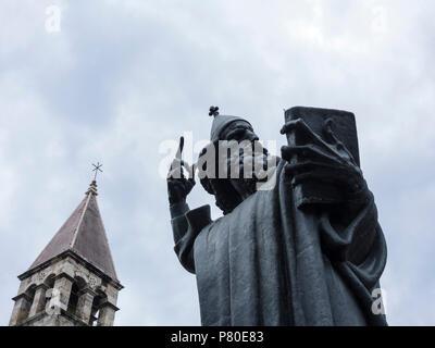 Statue of Gregory of Nin by Ivan Meštrovic in Split - Stock Photo