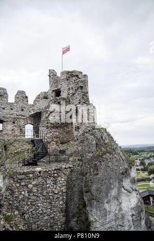 Ogrodzieniec castle, medieval castle in Silesia, Poland - Stock Photo