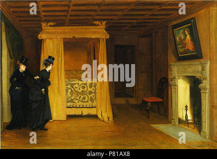 N/A. N/A 401 William-Frederick-Yeames-xx-A-Visit-to-the-Haunted-Chamber - Stock Photo