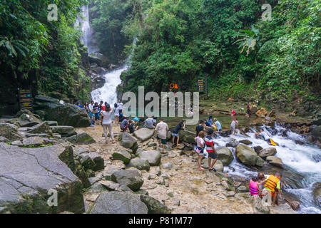 CHANTHABURI, THAILAND- SEPTEMBER 9, 2016: Namtok Phlio National park, the top of favorite waterfall in thailand, most famous tourist place of the east - Stock Photo
