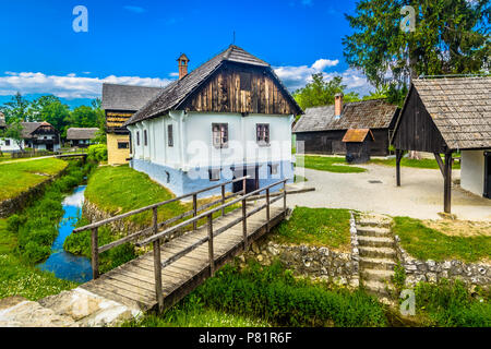Scenic view at marble historical place Kumrovec, birth place of Josip Broz Tito. - Stock Photo