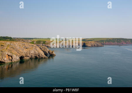 Summer  views along the Pembrokeshire Coast Path in South Wales, UK - Stock Photo