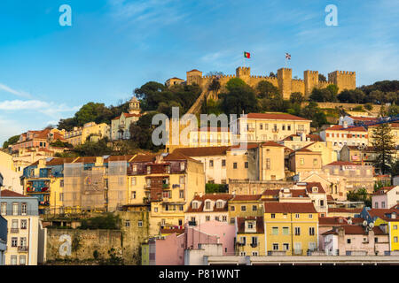 Lisbon, Portugal, view on the castle - Stock Photo