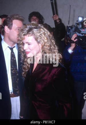WESTWOOD, CA - FEBRUARY 6: Actress Kim Basinger  attends the 'Final Analysis' Westwood Premiere on February 6, 1992 at the Mann Bruin Theatre in Westwood, California. Photo by Barry King/Alamy Stock Photo - Stock Photo