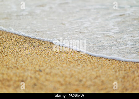 close up photo of the sand on he coast - Stock Photo