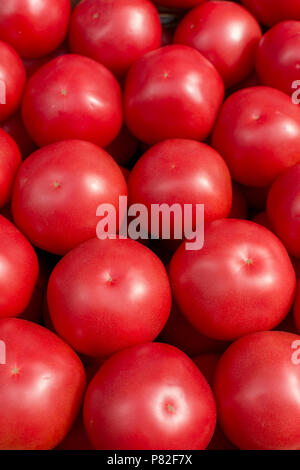 fresh tomato abstract fruit colorful pattern texture background - Stock Photo