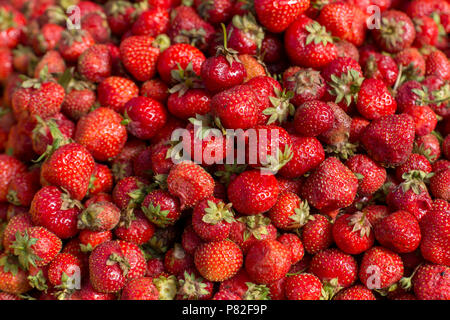 fresh red strawberry abstract fruit colorful pattern texture background - Stock Photo