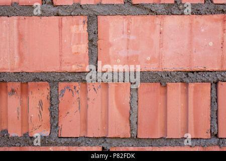 Brick wall close-up pattern texture background - Stock Photo