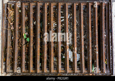 rusty lattice vertical stripes pattern texture background - Stock Photo