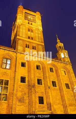 Old Town Hall in Torun. Torun, Kuyavian-Pomeranian Voivodeship, Poland. - Stock Photo