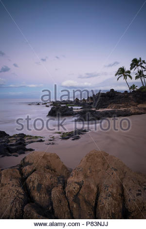 Dawn at Kamaole Beach Park II, Kihei, Maui, Hawaii - Stock Photo
