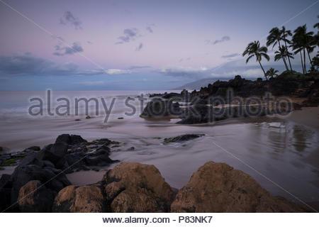 Kamaole Beach Park II at Dawn, Maui, Hawaii - Stock Photo