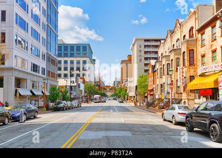 Washington, DC, USA - September 10,2017 : Urban cityscape of Washington, DC. Downtown district, China quarter (China Town). - Stock Photo