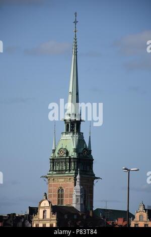 Stockholm, Schweden, Skandinavien, Stadt, Hauptstadt, Södermalm, Gamla Stan, Altstadt, Bürgerhaus, Jugendstil, Kirche - Stock Photo