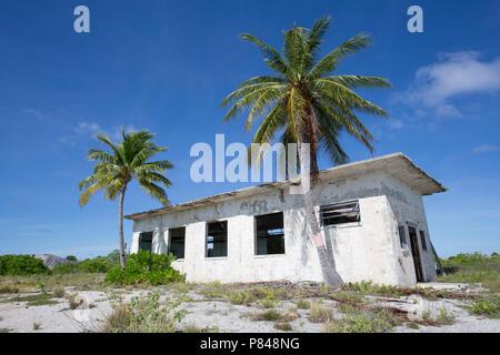 WWII ruins on Kanton Island, Kiribati - Stock Photo
