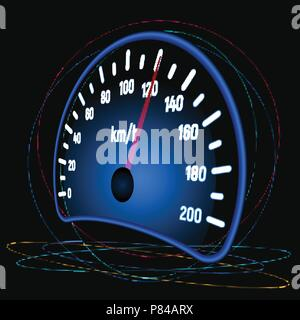 The speedometer of the car - Stock Photo