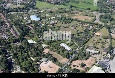 aerial view of Chester Zoo, Cheshire - Stock Photo