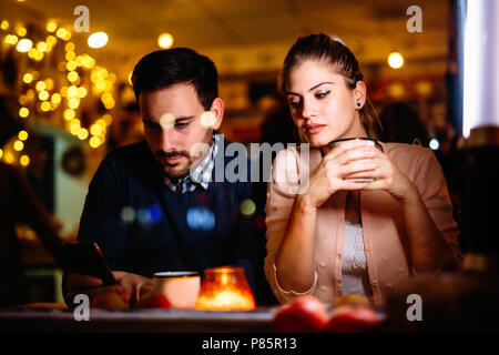 Sad couple having conflict and relationship problems - Stock Photo