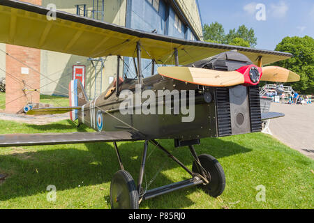 Royal Aircraft Factory S.E.5 replica of a British single seat fighter aircraft used by the Royal Flying Corps during 1917/18 - Stock Photo