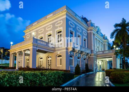 Puerto Rico Reception Center (formerly Antiguo Casino de San Juan), Beaux Arts style, Old San Juan, Puerto Rico - Stock Photo